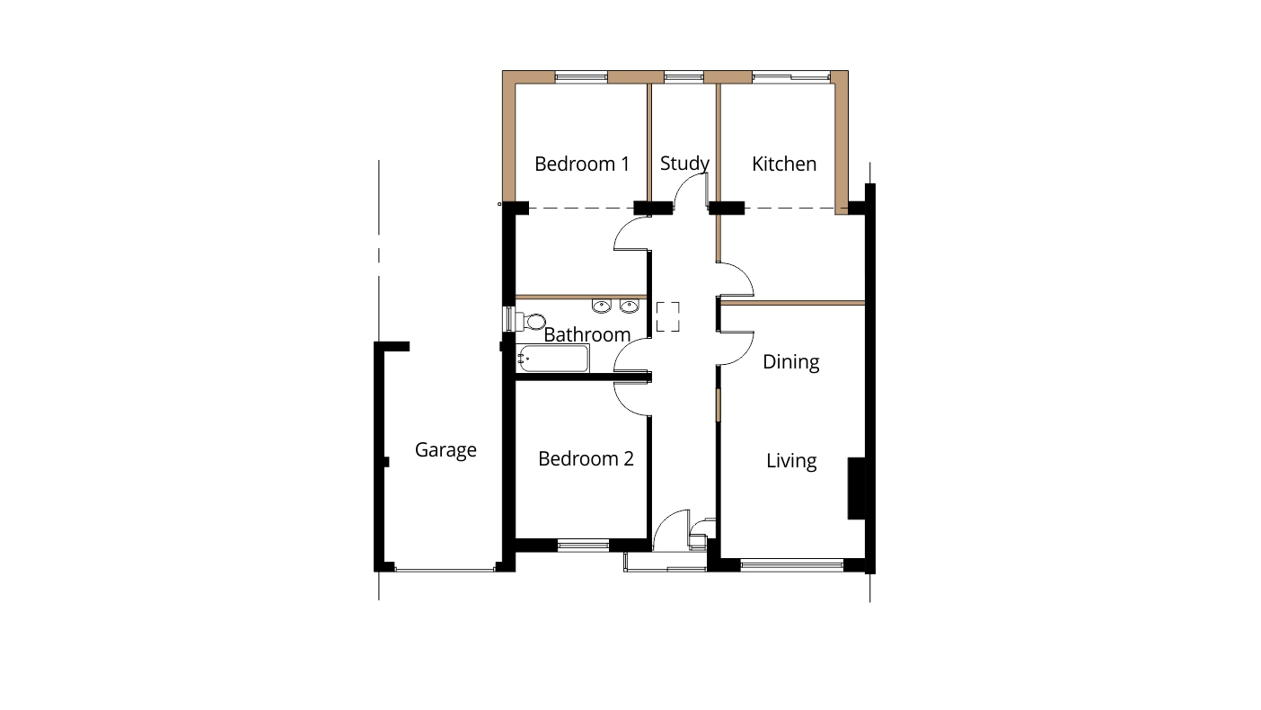 Luxury House Plans With Basement And Elevator likewise Floor Plan Shelbyville Indiana together with 3 Bedroom 160m2 Floor Plan together with 82d58f620be37a7f House Floor Plans With Dimensions Single Floor House Plans additionally Semi Detached Bungalow Extension Ideas. on single story bungalow house plans