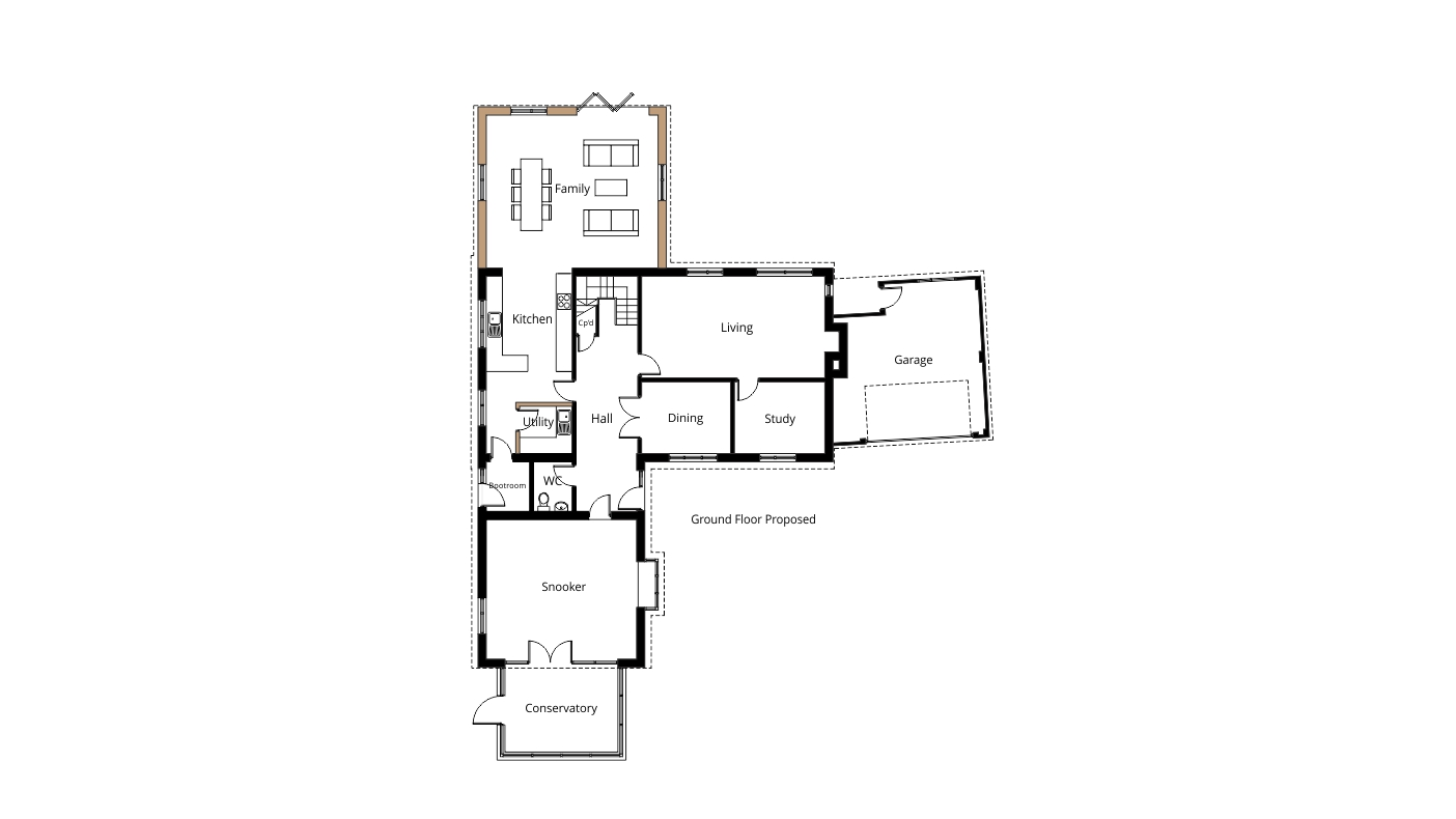 Two Storey Rear Extension For Larger Kitchen And Master Bedroom Project Ben Williams